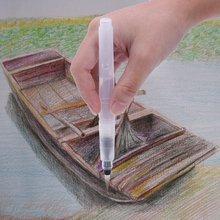 Brush-Pen-Set Watercolor Pencils-Brush Painting Solid-Colors Powdered-Pigment 3-Piece