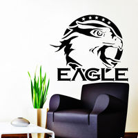 Eagle Wall Decals Birds Logo Decal Vinyl Stickers Home Bedroom Decor
