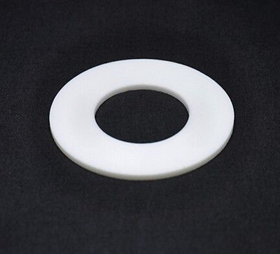 LOT5 102x57x3mm Telfon PTFE Flange Flat Gasket Washer Spacer 3mm Thickness