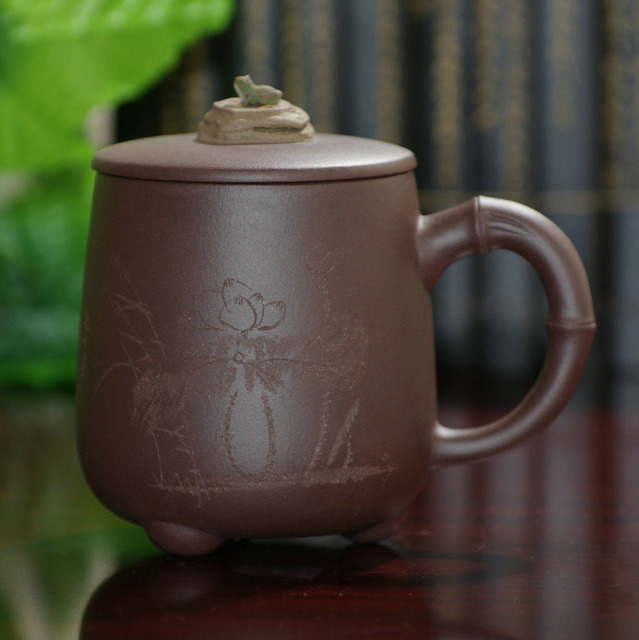 Authentic Yixing Purple Clay Tea Cup Lid Ore Grade Collection Of Handmade Gifts For Men