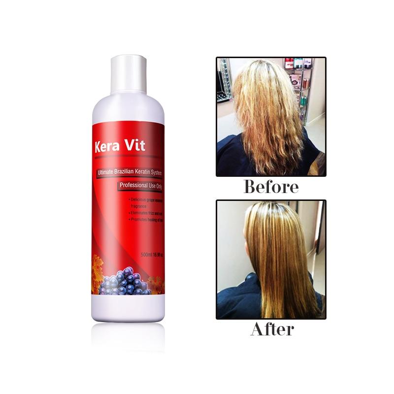 Tratamiento brasileño con 5% de queratina de formalina Alisar el - Cuidado del cabello y estilo - foto 6