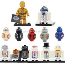 Single Hot Sale Space Wars Robot C3PO R2D2 C-3PO R2-D2 BB8 Figures Building Blocks Models Bricks Kits Toys for Children(China)