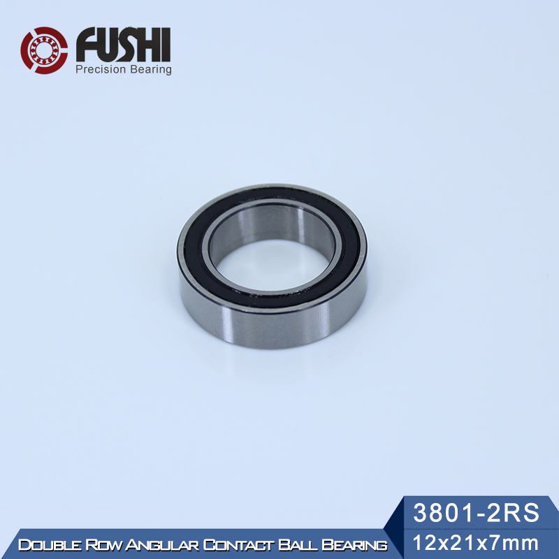 3801-2RS Bearing 12*21*7 mm ( 1 Pc ) 3801 2RS Double Row Sealed 3801 RS Angular Contact Ball Bearings усиленная пневмотрещотка jtc 3801