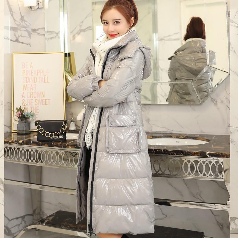 blue Coton Black Hiver gray Imperméable D'hiver Cw084 Extérieur Long Casual Survêtement Solide New Mode 2018 Femmes De red Chaleur white Veste Manteau qUtgtw