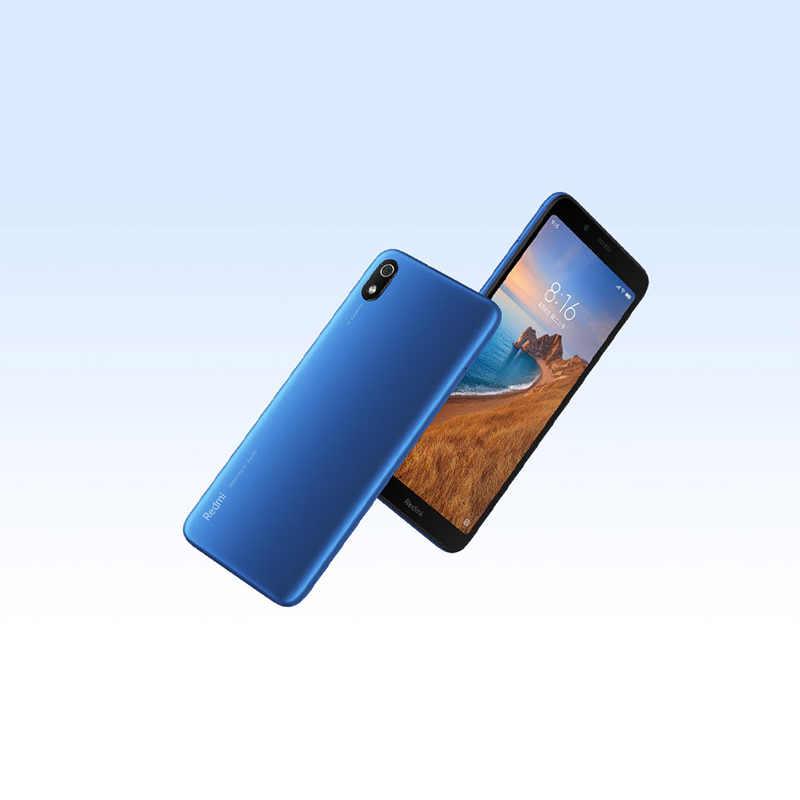 هاتف شاومي ريدمي 7A إصدار عالمي بذاكرة وصول عشوائي 2 جيجا بايت وذاكرة قراءة فقط 32 جيجا بايت وشاشة 5.45 بوصة عالية الوضوح ومعالج سنابدارجون 439 ثماني النواة وبطارية بقدرة 4000 مللي أمبير في الساعة هاتف محمول جاهز طويل