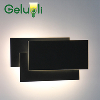 Creative Design New Item Aluminum Material Black and White Casing High Quality Led Wall Sconce Bedside Wall Lamp I/P AC 100 240V