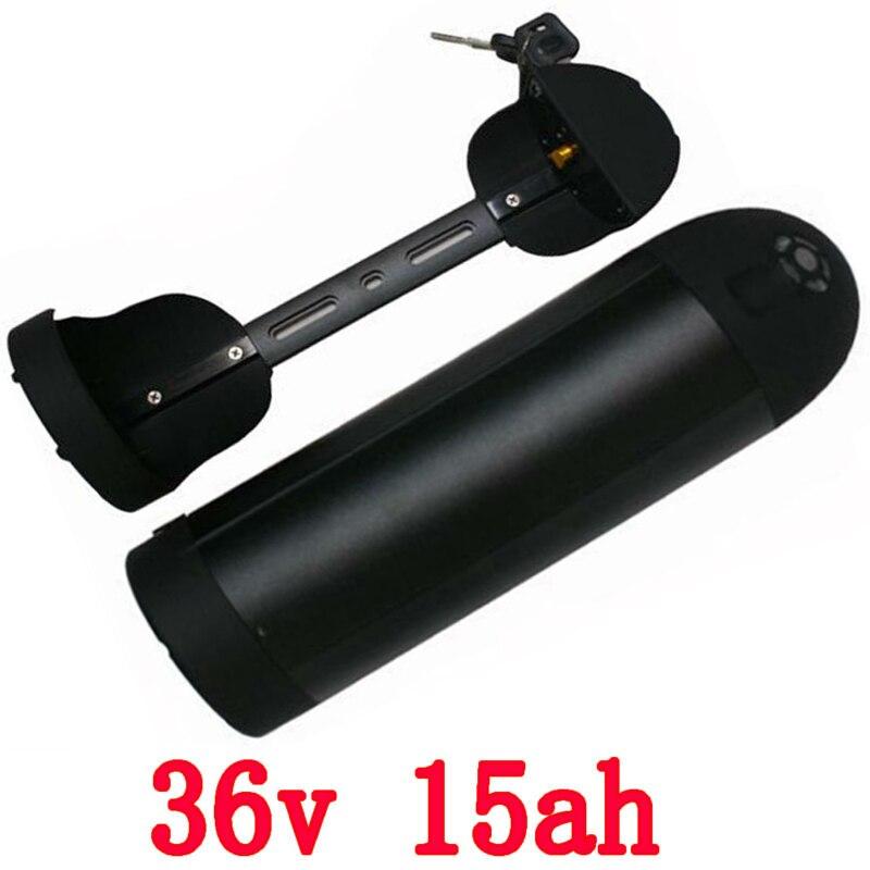 36 v 15ah batterie de vélo électrique 36 V 15AH batterie de bouteille d'eau 36 v 15ah batterie au Lithium-ion pour moteur 36 V 500 W US EU taxe gratuite