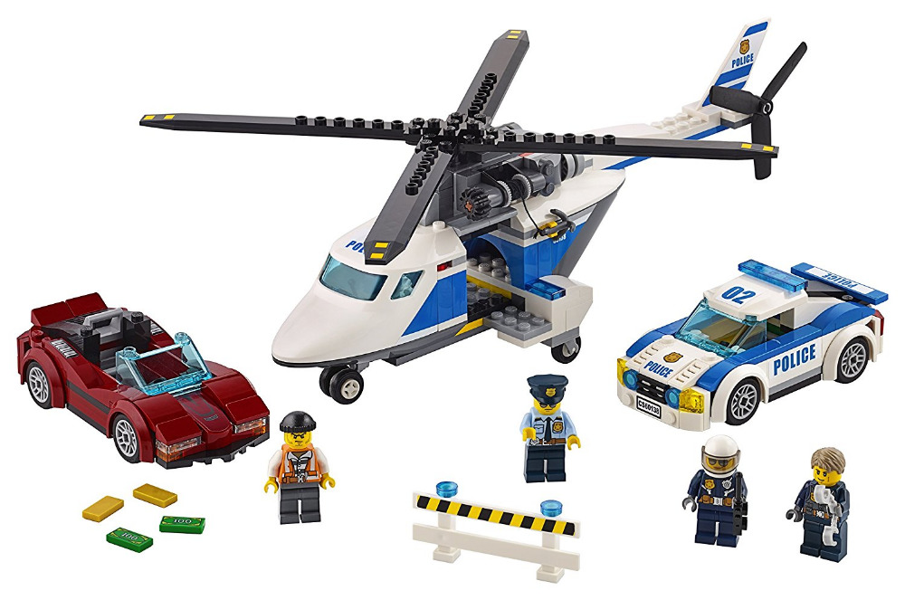 Models building toy Compatible with lego City 60138 Police High-Speed Chase Building Blocks Sets toys & hobbies birthday gift lepin 02025 city the high speed racer transporter 60151 building blocks policeman toys for children compatible with lego
