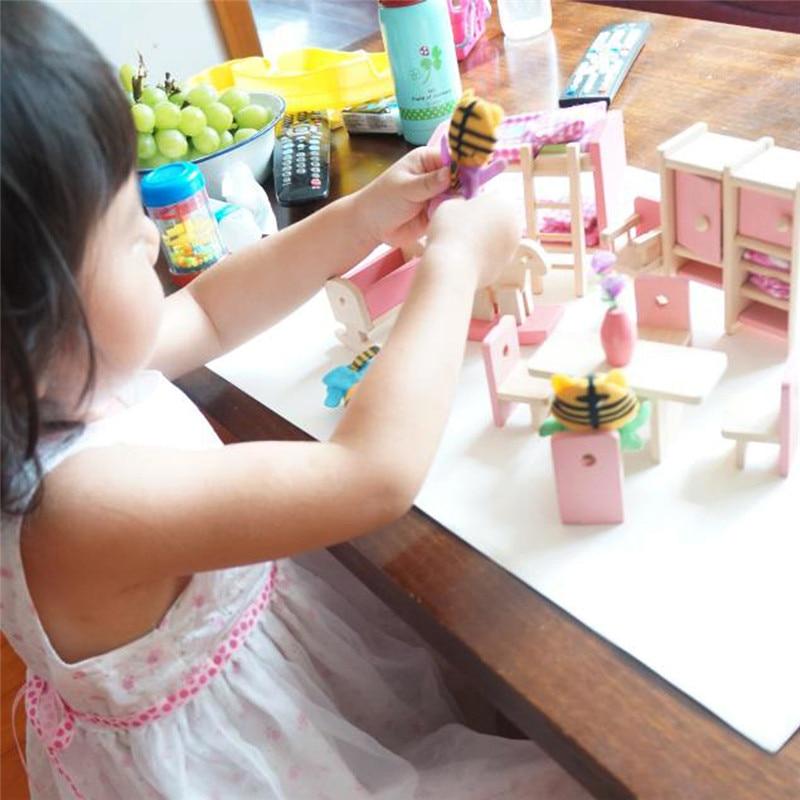 comprar beb mueca de madera muebles de bao cama dormitorio casa de muecas en miniatura para nios juguetes educativos para nios de with muebles beb