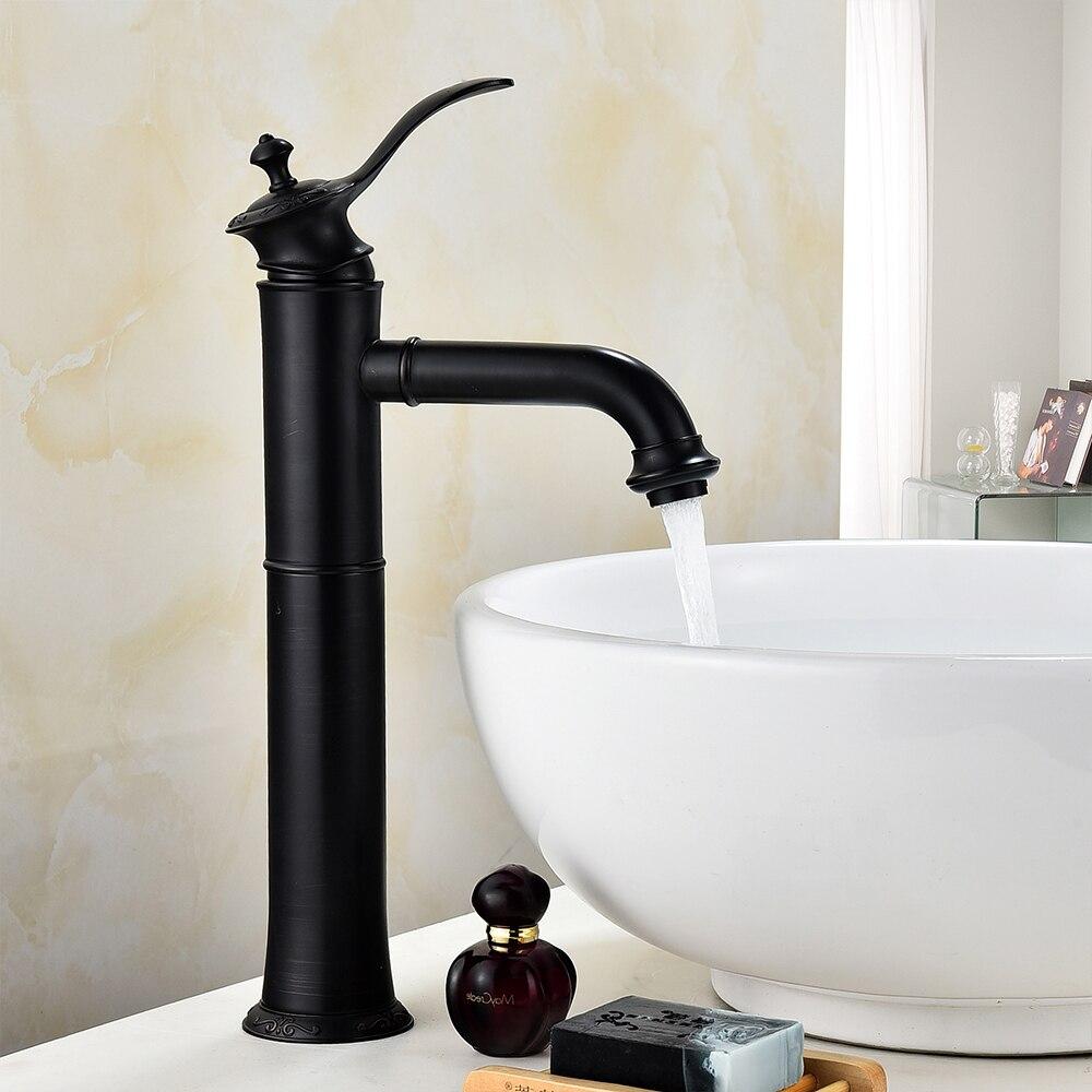 Bathroom Faucets Oil rubbed Bronze Color Faucet Brass Bath Basin ...