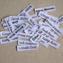 152 stuks Aangepaste logo labels/merk labels, gepersonaliseerde naam tags voor kinderen, ijzer op, aangepaste Kleding Labels, Naam Tags
