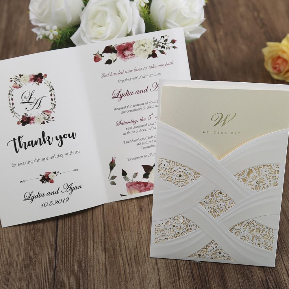 100st hete mode laser gesneden witte holle flora bruiloft - Feestversiering en feestartikelen - Foto 5
