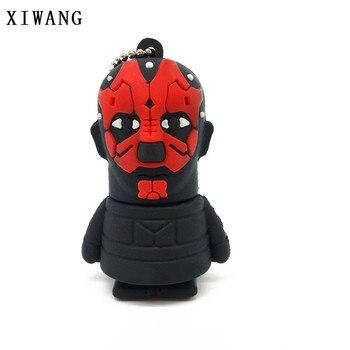 XIWANG Usb Flash Drive Star Wars Series USB2.0 4GB 8GB 16GB 32GB 64GB Cartoon Darth Vader Yoda U Disk Pendrive Memory Stick Gift