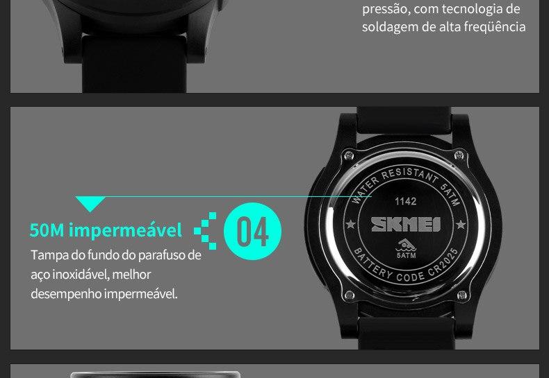baeb942ba89 SKMEI 1142 Homens LED Digital relógios de Pulso Marca de Moda ...