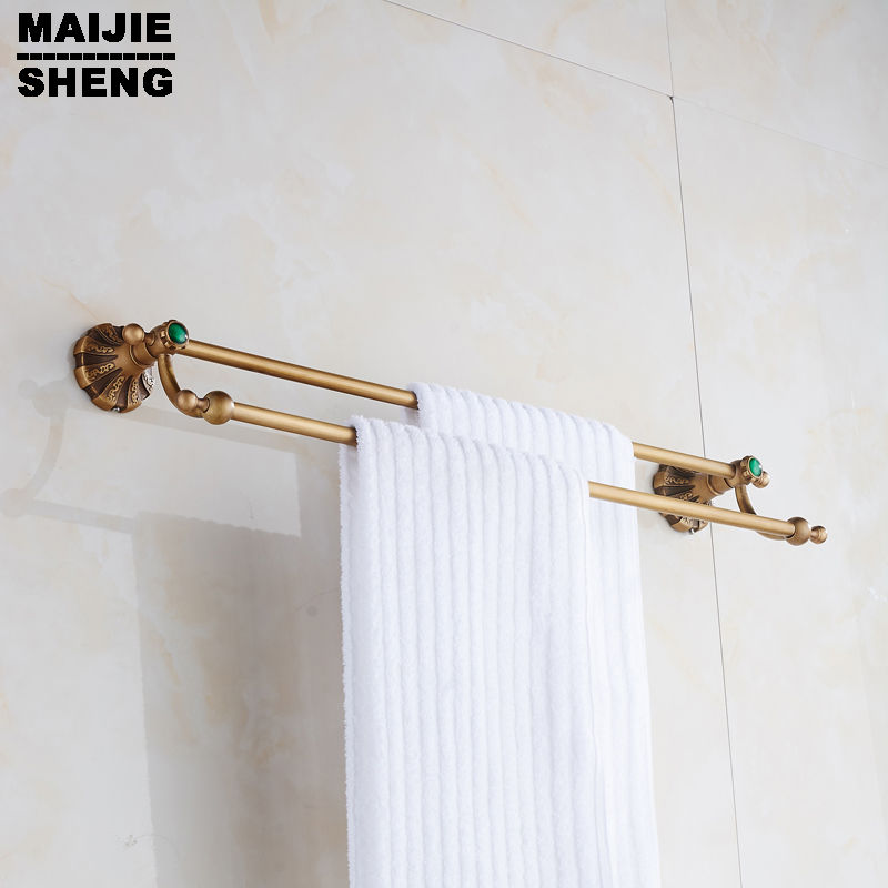 Towel Holder,Solid Brass Made,antique bronze Finished,Bath towel bar Bathroom Accessories Antique Double Towel Bar,classic
