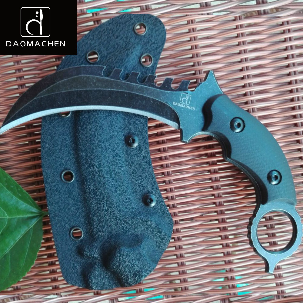 Outdoors Tactical Karambit Knife Camping Survival Hunting Claw Knives Multi Purpose Tools D2 Blade Huntsman Knives as a gift