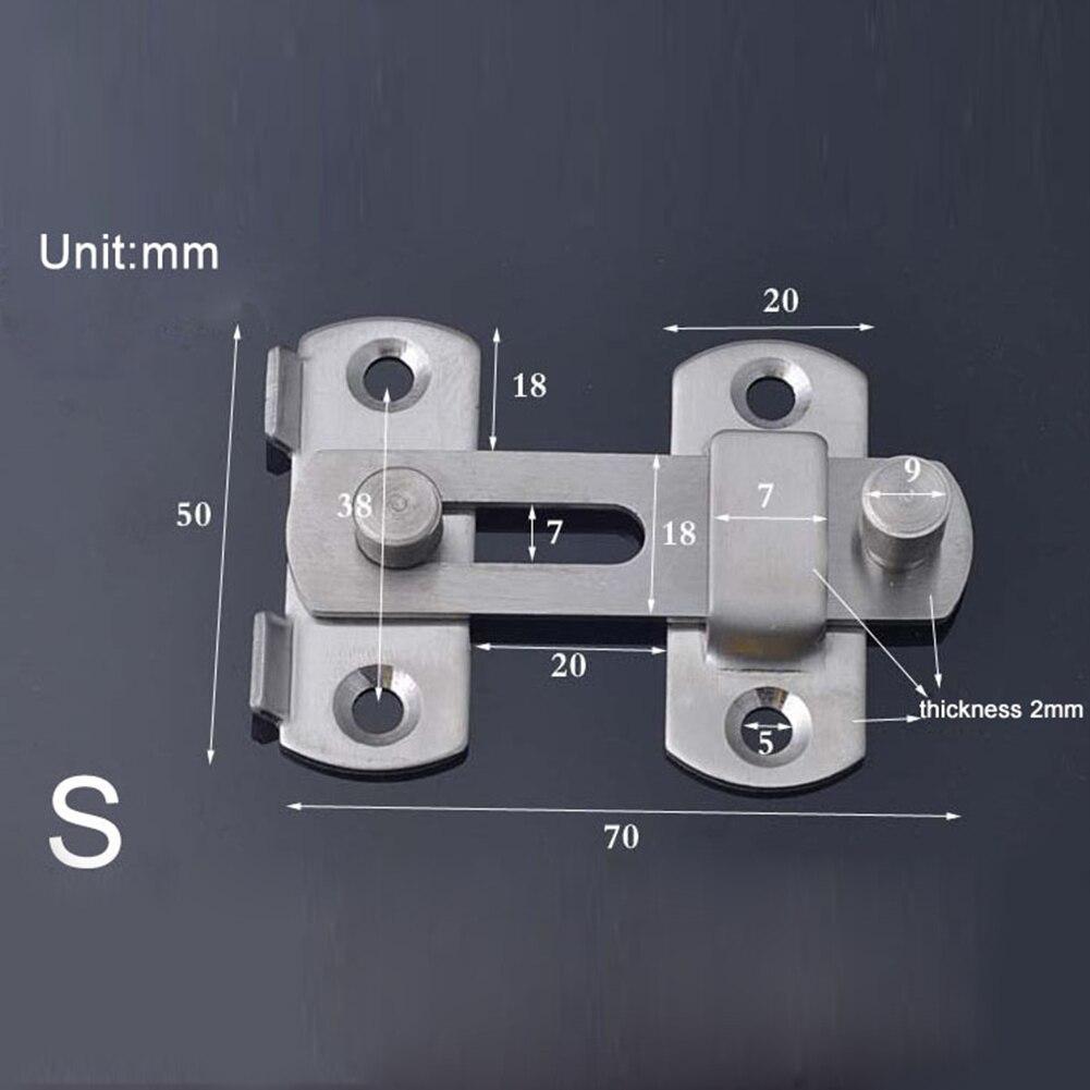 Главная Детская безопасность крепеж для калитки двери защелка-болт слайд поймать замок нержавеющая сталь новый