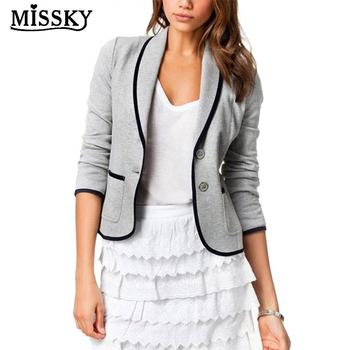 74ab36522 MISSKY mujeres abrigo delgado diseño todo-fósforo ocio Blazer traje de  negocios chaqueta de Color sólido ropa femenina para otoño primavera