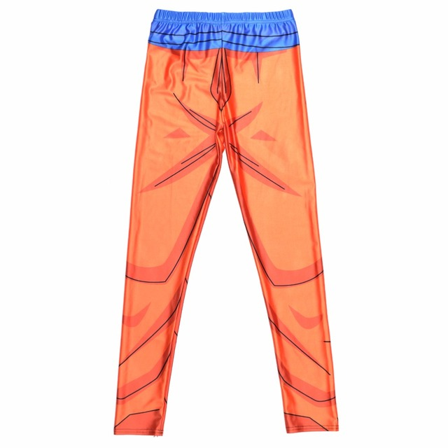 Girl Dragon Ball Z Super Compression Pants Cosplay Printed