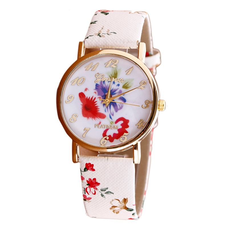 Relojes Mujer Luxury Brand GENEVA Women Watches Personality Flower Quartz Wrist Watch Leather Ladies Clock Relogio Feminino N50Relojes Mujer Luxury Brand GENEVA Women Watches Personality Flower Quartz Wrist Watch Leather Ladies Clock Relogio Feminino N50