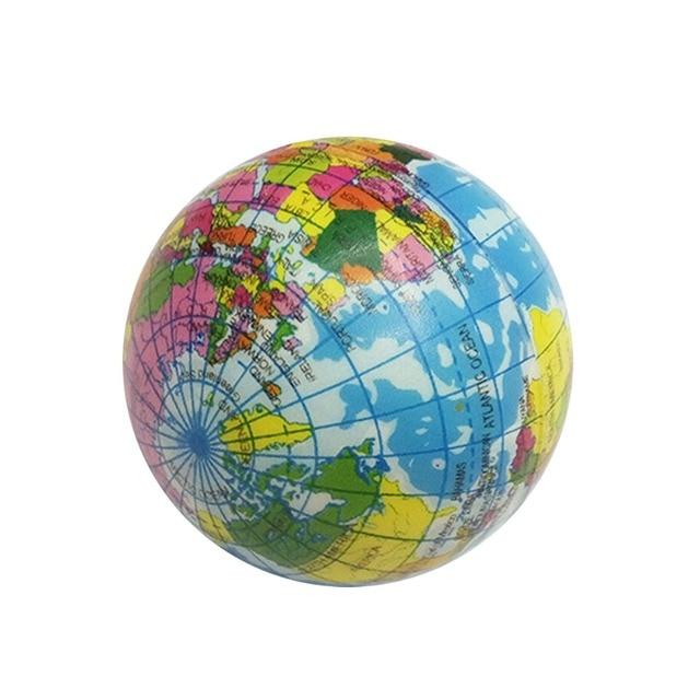 Atlas Globe Map.1 Pcs Anti Stress Toys World Map Foam Ball Learning Educational Toys