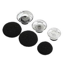 6 個クリアヒント Eargels 黒用のための Plantronics ボイジャー凡例イヤホンとヘッドフォン Accessorries S/ m/L