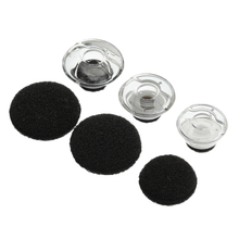 6 PCS Clear Earbuds Tips Eargels Black Foam For Plantronics For Voyager For LEGEND Earphone and Headphones Accessorries S/M/L
