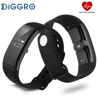 Diggro V66 Smart Wristband Professional IP68 Waterproof Smart Heart Rate Bracelet Fitness Tracker Smartband Pk Xiaomi