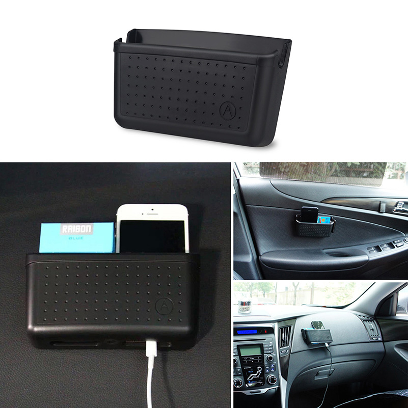 Car Organizer Storage Bag Cellphone Box for Toyota Corolla Avensis Yaris RAV4 Auris Hilux Prius Camry Prado Land Cruiser Celica bluetooth link car kit with aux in interface for toyota corolla camry avensis hiace highlander mr2 prius rav4 sienna yairs venza