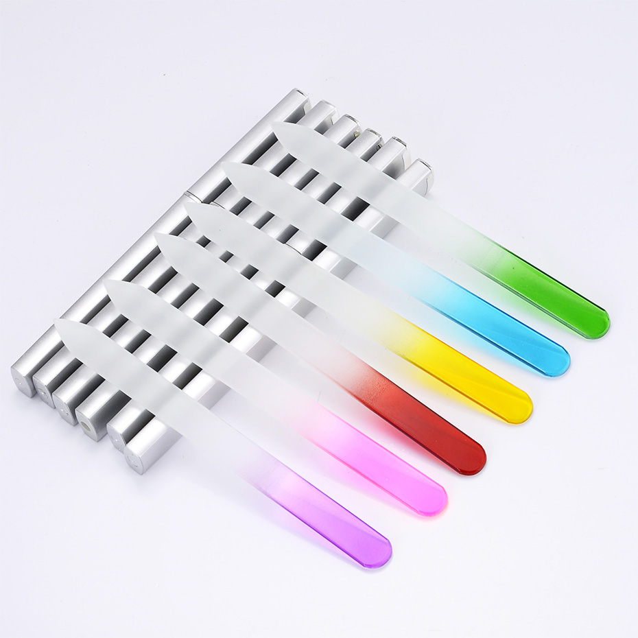 Crystal Glass Nail File Case for Gel Polish bar for nail art ...