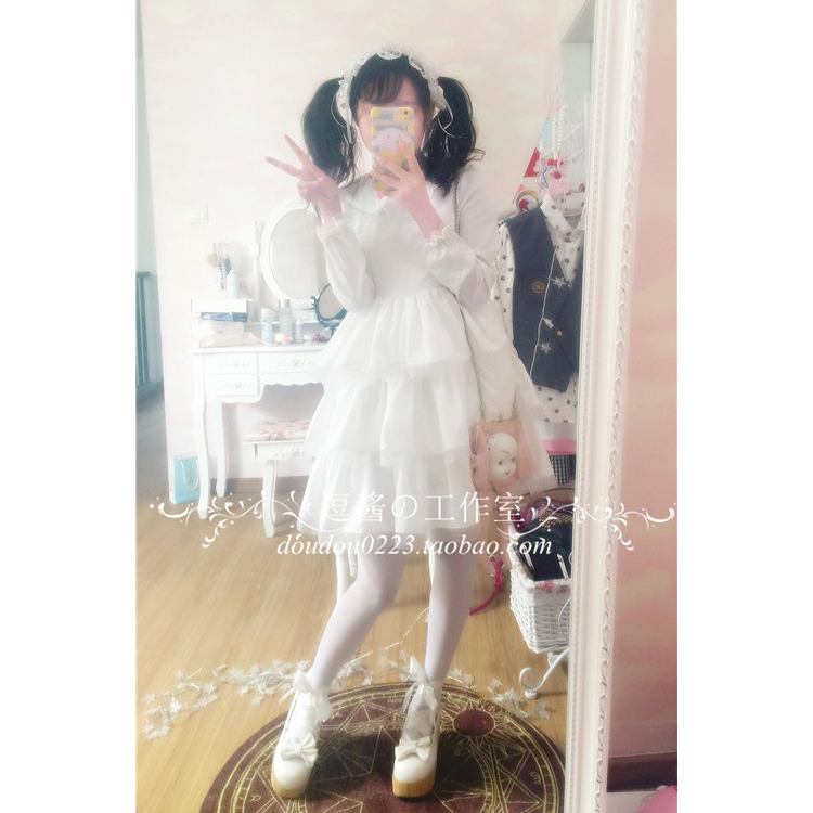 Robe lolita palace princesse col claudine fraise broderie robe victorienne kawaii fille robe gothique lolita op cos loli - 2
