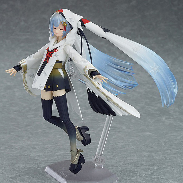 Anime Hastune Miku EX-045 Snow Miku PVC Action Figure Crane Priestess Ver. Snow Miku Model Gifts no retail box (Chinese Version) 2