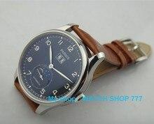 44 mm PARNIS luna muestra relojes hombre 2105 nueva moda mecánico automático reloj de hombre