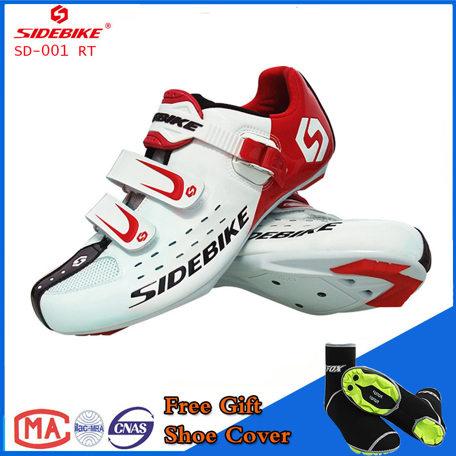 Sidebike Unisex Bicycle Road Cycling Shoes Breathable MTB Non-Slip Road Bike Lock Shoes Zapatillas Ciclismo Bicicleta SD01 White west biking bike chain wheel 39 53t bicycle crank 170 175mm fit speed 9 mtb road bike cycling bicycle crank