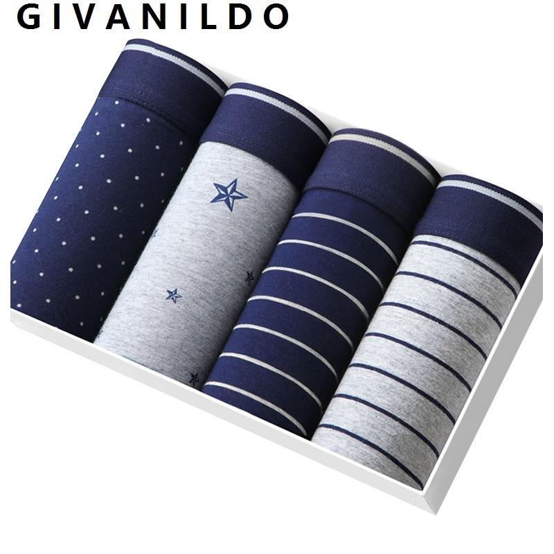 4pc/lot Modal Underwear Boxer Men Boxers Shorts Soft Gray Underpants Clothings Home Breathable Flexible Male Pants Sets Y872