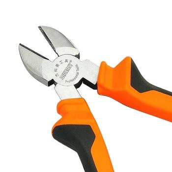 "8"" Industrial Diagonal Pliers Tools Ferramentas Chrome Vanadium Steel Diagonal Cutting Pliers Electrical Pliers 4"
