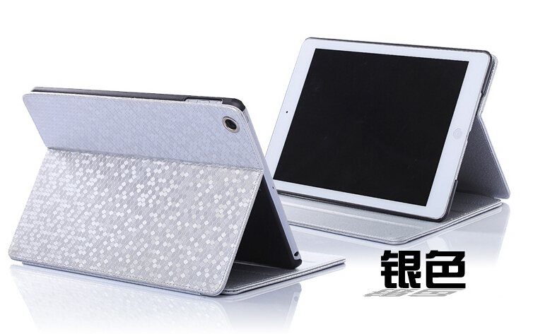 Fashion For Ipad Mini 1 2 3 Diamond Pattern Flip Leather Case Cover Glitter Simple Smart