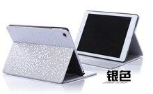 Patrón de diamante de moda para ipad mini 1/2/3 tirón la cubierta de cuero del brillo simple de cuero elegante del soporte