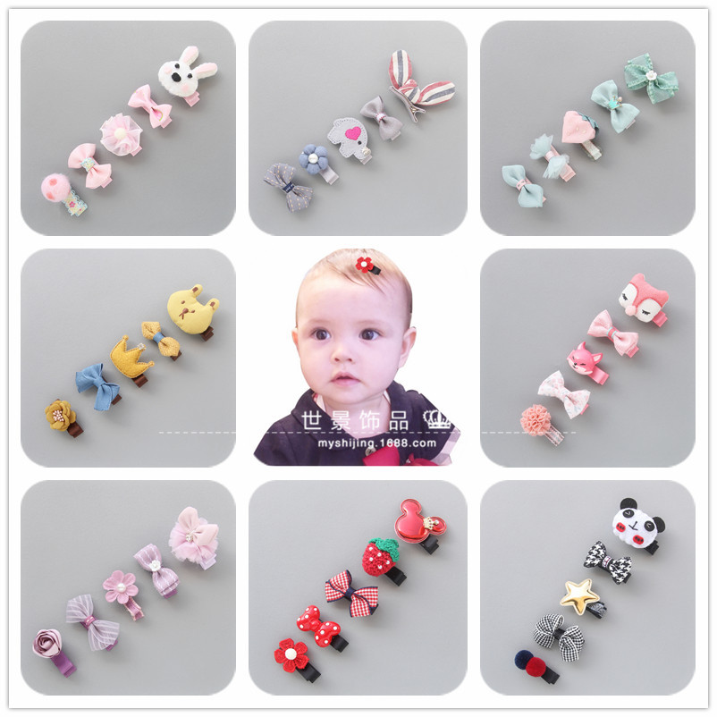 5pcs/lot Cute Girls Hairpins Baby Headwears School Children Lovely Head Wears Newborn Kids Gifts Baby Girls Hair Accessories 7pcs m6 70mm m6 70mm 304 stainless steel ss din933 full thread hex hexagon head screw
