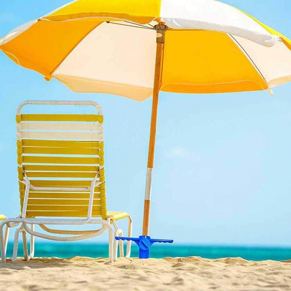 Durable fácil de instalar Universal resistente al viento suelo de ABS al aire libre fijo ligero soporte de sombrilla portátil herramienta de pesca playa