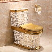 Унитаз для экономии воды в ванной с цельным туалетом, медленно опускающийся сифонный унитаз, неприятный запах и водостойкий Туалет