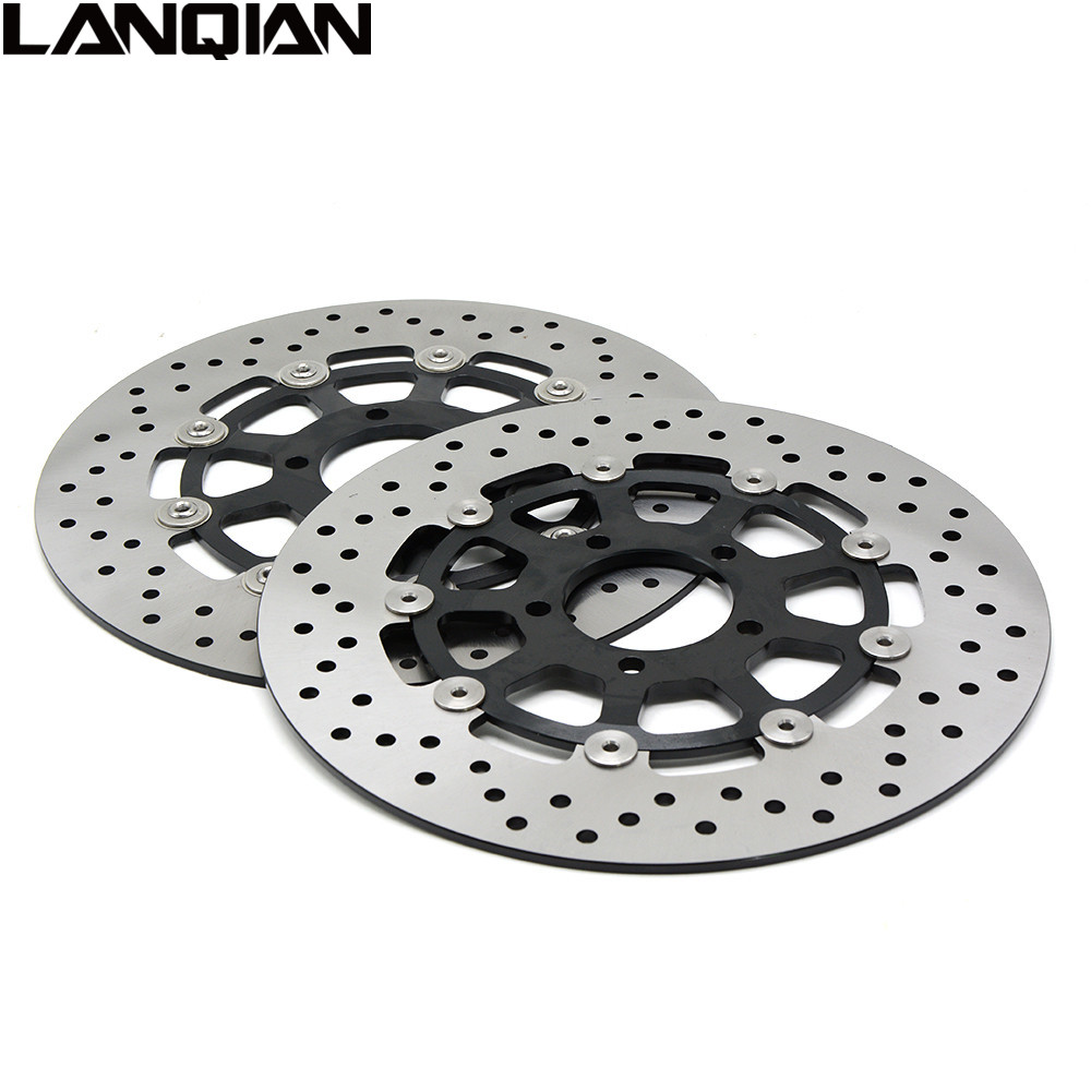 2PCS Motorcycle Front Floating Brake Disc Rotor For Suzuki GSXR1000 2000 - 2003 GSXR1300 HAYABUSA1300 1999 - 2007 GSXR 1000 1300 mfs motor motorcycle part front rear brake discs rotor for yamaha yzf r6 2003 2004 2005 yzfr6 03 04 05 gold