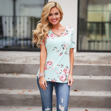Fashion Floral Print T-shirts