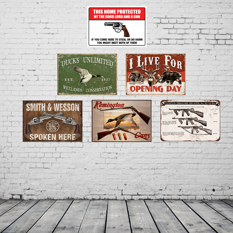 L Live for Opening Day Vintage Tin Signs Retro Metal Plate Painting Wall Decoration for Bar Home Club Pub and So on 30CM*20CM ...