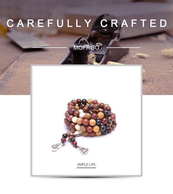 108 различные браслеты из сандалового дерева с искусственными