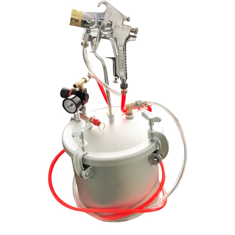 Pressure Bucket Barrel Imitation Marble Spray Paint Gun 3.0mm Nozzle  Airbrush Airless Painting Sprayer