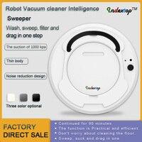 Indextop лучший робот пылесос развертки и влажной уборки одновременно для твердых полов и ковер Run 90 минут перед автоматически зарядки