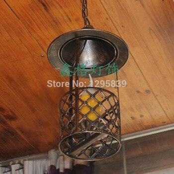 Avize Kırsal Köy Giriş Koridor Tek Kafa Mum Avize Çin Antika Amerikan ışık Bar Cafe