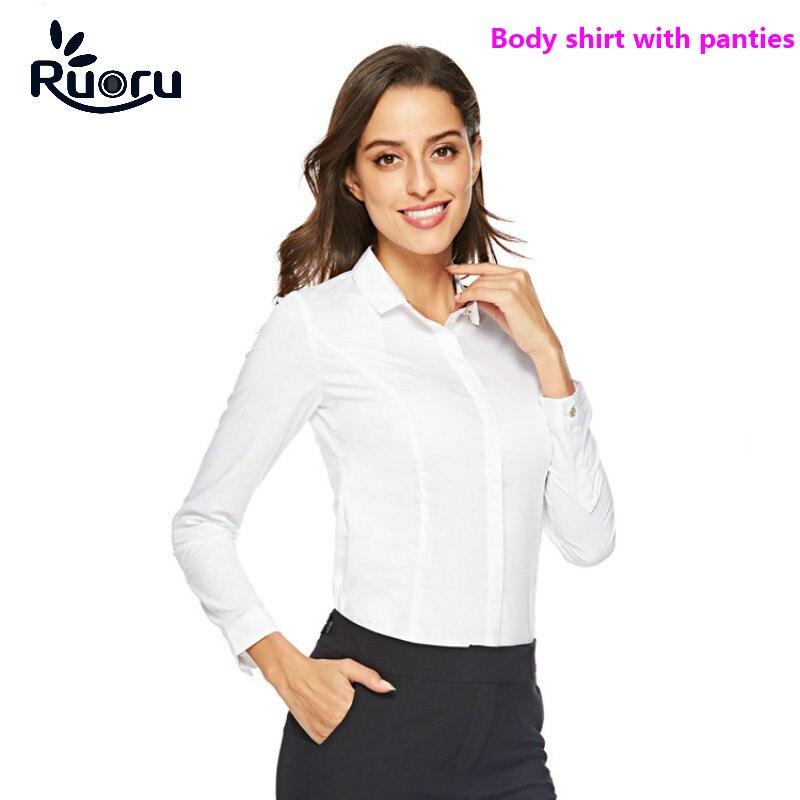 Ruoru Blouse Women Body Shirt Plus Size Blouses Shirts Office Tops Elegant Long Sleeve Work Wear Autumn Spring Ladies Tops