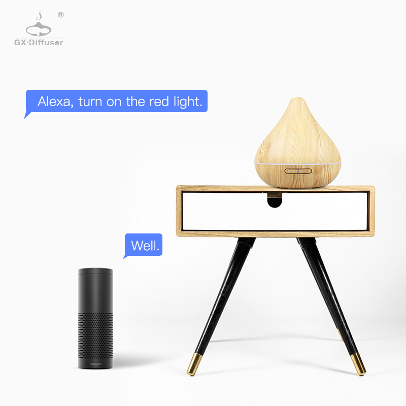 GX.Diffuser Portable Wi-Fi Smart Air Humidifier Aromatherapy Aroma Diffuser 300ML Electric Diffuser Air Purifier Work With Alexa
